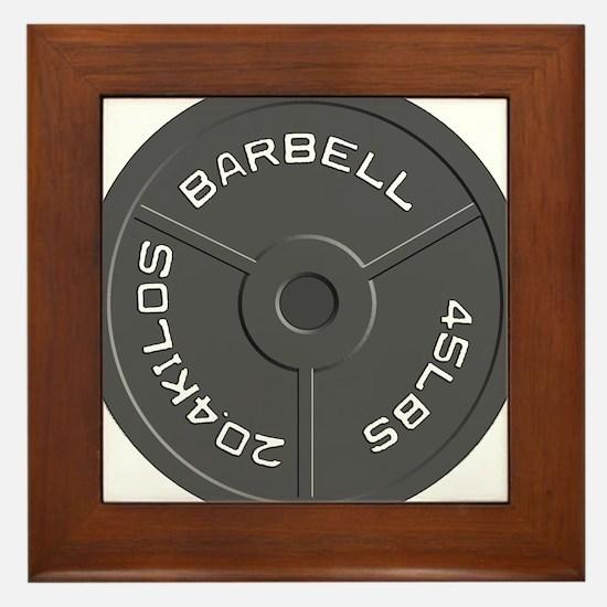 Clock Barbell45lb Framed Tile