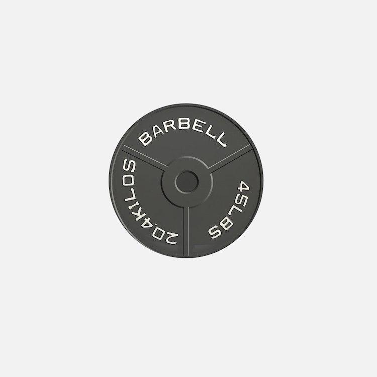 Clock Barbell45lb Mini Button