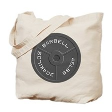 Clock Barbell45lb Tote Bag