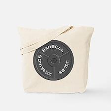Clock Barbell45lb Tote Bag