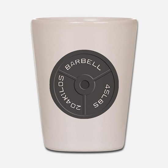 Clock Barbell45lb Shot Glass