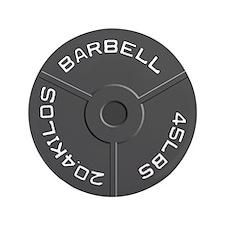 "Clock Barbell45lb 3.5"" Button"