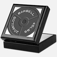 Clock Barbell45lb Keepsake Box