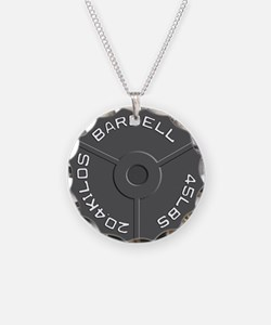 Clock Barbell45lb Necklace
