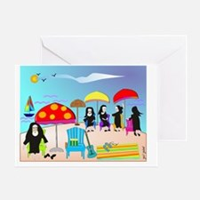 ocean scene NUNS COMPLETE Greeting Card