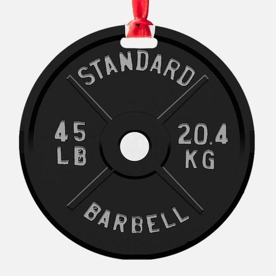 clock barbell45lb2 Ornament