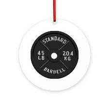 clock barbell45lb2 Round Ornament
