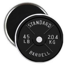 clock barbell45lb2 Magnet