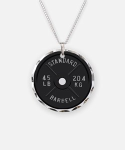 clock barbell45lb2 Necklace