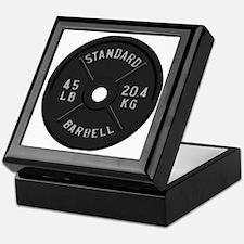clock barbell45lb2 Keepsake Box