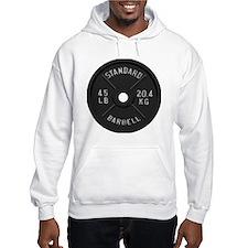 clock barbell45lb2 Hoodie Sweatshirt