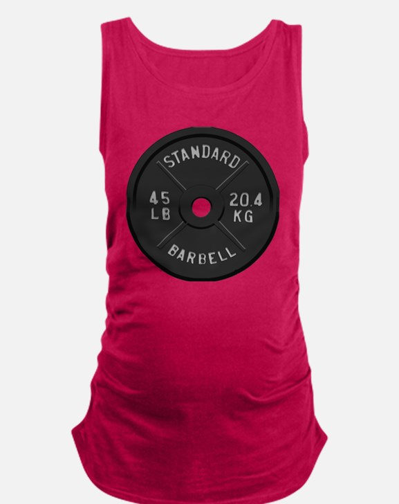 clock barbell45lb2 Maternity Tank Top