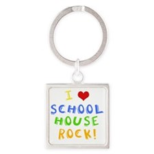 schoolhouserockwh Square Keychain
