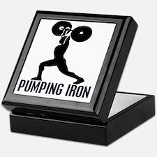 pumping_iron_12by14_trans Keepsake Box
