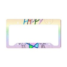 A Very Colorful Passover-Yard License Plate Holder