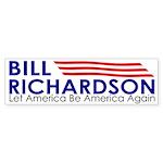 Bill Richardson: Let America Be (bumper sticker)