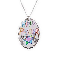 Colorful Happy Passover Trans Necklace
