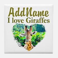 LOVE GIRAFFES Tile Coaster