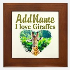 LOVE GIRAFFES Framed Tile