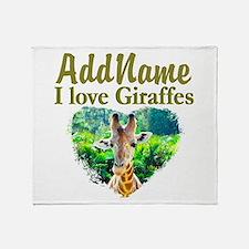 LOVE GIRAFFES Throw Blanket