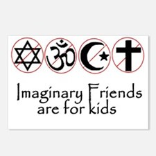 imaginary friends atheist Postcards (Package of 8)