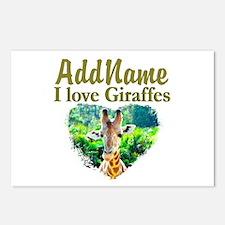 LOVE GIRAFFES Postcards (Package of 8)