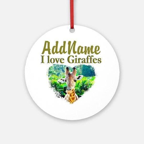 LOVE GIRAFFES Ornament (Round)