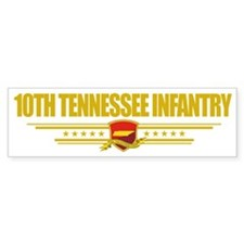 10th Tennessee Infantry (Flag 10) Bumper Sticker