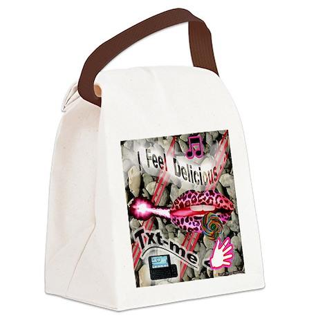 LIPPS-ROCKS2 Canvas Lunch Bag
