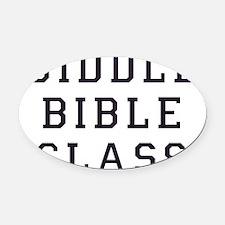 biddle bible class 2 Oval Car Magnet