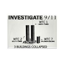 INVESTIGATE 911 W Rectangle Magnet