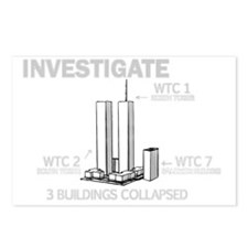INVESTIGATE 911 B Postcards (Package of 8)