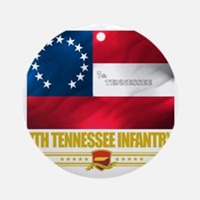 7th Tennessee Infantry (Flag 10) Round Ornament