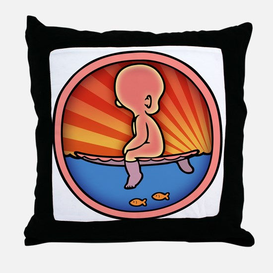 surf-womb-2-T Throw Pillow