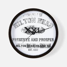 property of HILTON HEAD DARK Wall Clock