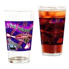 BG-BLUE-LIPPS-T-SH Drinking Glass