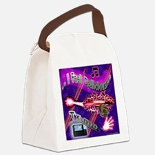 BG-BLUE-LIPPS-T-SH Canvas Lunch Bag