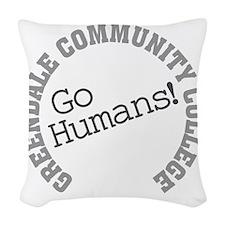 Greendale CC Go Humans Woven Throw Pillow