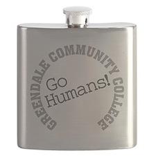 Greendale CC Go Humans Flask