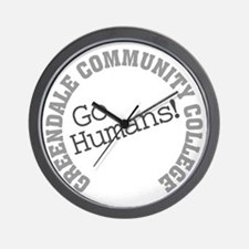 Greendale CC Go Humans Wall Clock