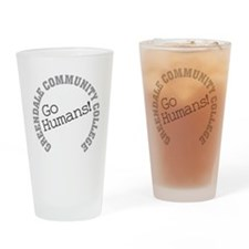 Greendale CC Go Humans Drinking Glass