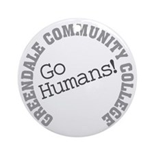 Greendale CC Go Humans Round Ornament