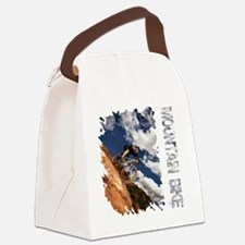 Mountain_Bike_Hill_whr Canvas Lunch Bag