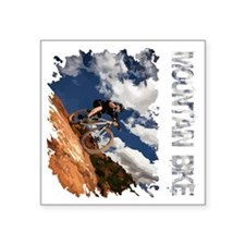 "Mountain_Bike_Hill_whr Square Sticker 3"" x 3"""