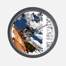 Mountain_Bike_Hill_whr Wall Clock