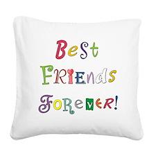 BestFriendsForever02 Square Canvas Pillow