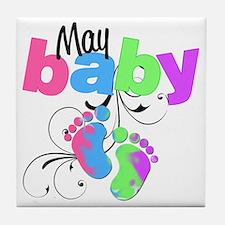may baby Tile Coaster