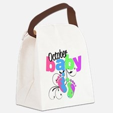 oct baby Canvas Lunch Bag