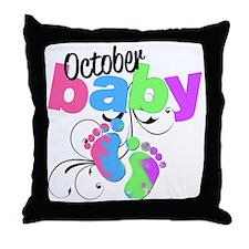 oct baby Throw Pillow