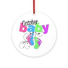 oct baby Round Ornament